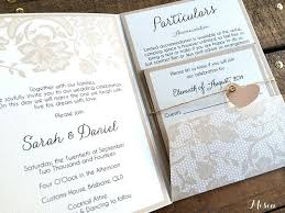 Ideas Pocket Folder Wedding Invitations And Lace Fold 33 Rustic