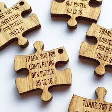 Puzzle Piece Wedding Favours