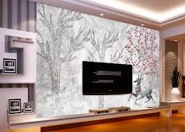 nach papel de parede infantil rentier wald comic wandbild für wohnzimmer schlafzimmer hintergrund dekoration tapete