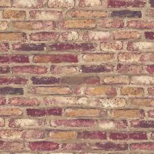 Faux Brick Peel Stick Wallpaper Rusty Red Brown Purple Self Adhesive