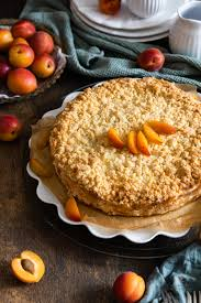 aprikosen käsekuchen mit streusel