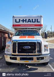 Front Of Large 26 Foot Uhaul Rental Moving Truck Or Van Used For A ...