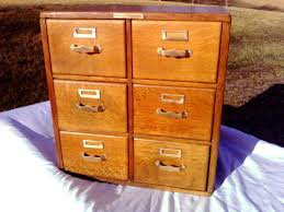 library bureau antique library bureau sole maker tiger oak 6 drawers table top file