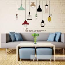 glanz glühbirne wandaufkleber wohnzimmer schlafzimmer vinyl
