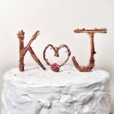 Rustic Monogram Wedding Cake Topper Personalized Any Two Letters And A Heart On Etsy K J Are Common