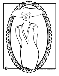 Kentucky Derby Fancy Hats Coloring Page