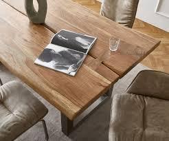 massivholztisch live edge akazie natur 180x100 platte 5 5 cm gestell breit baumtisch