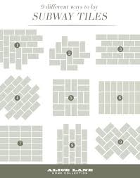 tiles kitchen tile layout design 9 different ways to lay subway