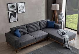 casa padrino luxus ecksofa grau braun 265 x 180 x h 70 cm elegantes wohnzimmer sofa luxus möbel