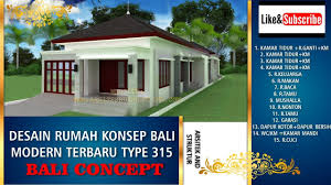 Bali House Design Concept Type 315 At Indonesia - (1 Lantai, 4 ... Bali Home Designs Design Interior Balinese Nuraniorg Awesome Style Ideas Decorating Unique Bedroom Villa H39 About Fniture New House Plans Teak Behind The Of Balis Best Villas The Youtube Baliinspired For Your Emporio Architect Ideal Great 1 Living Room Wonderfull Wonderful To