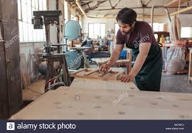 100 Carpenter Design Skilled Young Carpenter With A Beard Hand Sanding Pieces Of