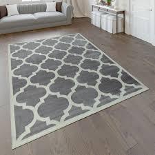designer teppich marokkanisches muster grau