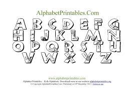 Printable PDF Alphabet Chart Black