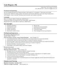 Resume Example For Nurses Objective Nurse Of Nursing Examples Sample