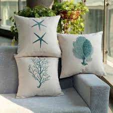 Cushion Covers Vintage Nautical Decorative Pillows Linen Cushions Home Seat For Dining Room