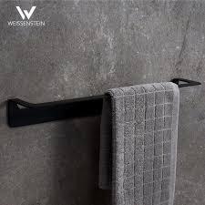 handtuchstange edelstahl schwarz 30 cm ohne bohren