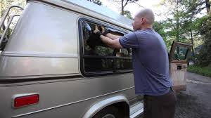 Removing Broken Bay Window In Chevy G20 Conversion Van
