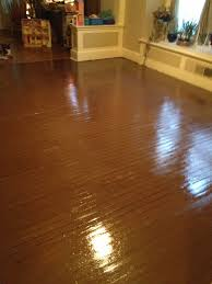 Dog Urine Hardwood Floors Stain by I Got The Idea To Paint My Crappy Wood Floor Not Worth