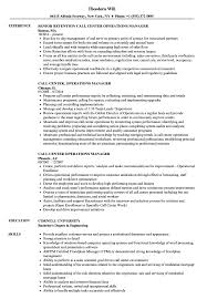 Call Centerrations Manager Resume Sample Templates India Bank Branch Warehouse Unique Operations