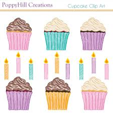cupcake clip art with candles