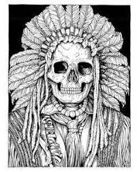 Native American Skull Drawings