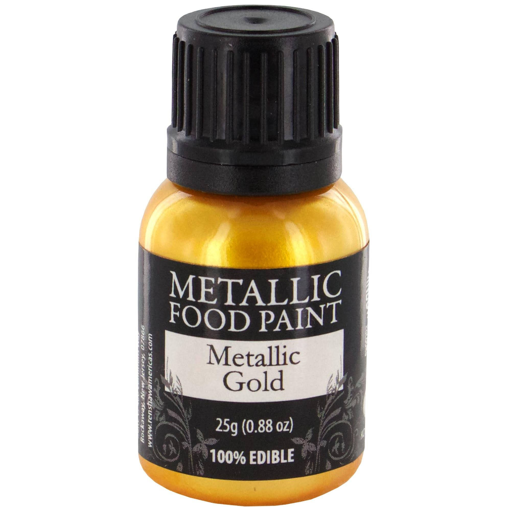 Rainbow Dust Metallic Food Paint - Metallic Light Gold, 25g
