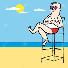 Beach Lifeguard Chair Plans by Baywatch Lifeguard Boy Beach Illustration Cartoon Royalty Free
