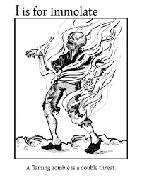 ABC Zombie Coloring Book I Is For Immolate