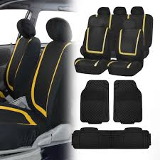 Black Yellow Car Seat Covers With Black Heavy Duty Mats For Auto Car ... Dog Car Accsories For Sale Travel Dogs Online Heavy Duty Design Universal Double Van Seat Cover From Direct Parts Universal Pu Leather Seat Covers Truck Van Front Amazoncom Universal Cover Case With Organizer Storage Muti Oxgord 2piece Full Size Saddle Blanket Bench Isuzu Dmax 2012 On Easy Fit Tailored Double Cab Bestfh Beige Faux Leather Auto Combo Wblack Solid Black For Set Wheavy Heavy Duty Seat W Arm Rests For Forklifts Tehandlers Premium Rear White Horse Motors 2 Headrests Floor