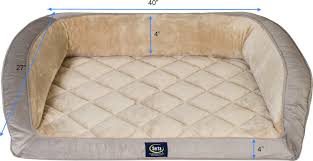 Serta Dog Bed by Serta Orthopedic Quilted Dog U0026 Cat Couch Bed Mocha Chewy Com