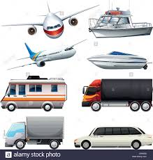 Different Types Of Vehicles Illustration Stock Vector Art ...