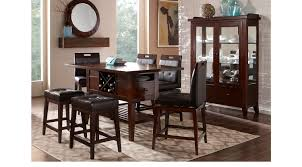 Sofia Vergara Dining Room Furniture by Julian Place Chocolate 5 Pc Counter Height Dining Room Contemporary