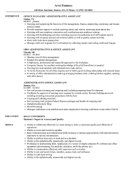 Download Administrative Office Assistant Resume Sample As Image File