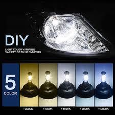 2x play car h7 led headlight bulb auto fog light work light
