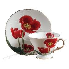 Tea Cup Design Oz Cute Poppy Flowers Porcelain Coffee Saucer Sets Bone China Afternoon Black Teacup Designer Dogs Online