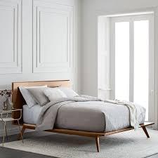 Mid Century Platform Bed – Walnut