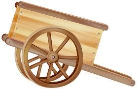 Wooden Wheelbarrow PNG Clipart