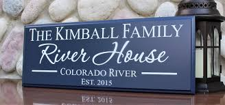 100 River House Decor Personalized River House Signriver House Decorfamily River