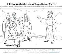 Jesus Taught About Prayer Color By Number Page