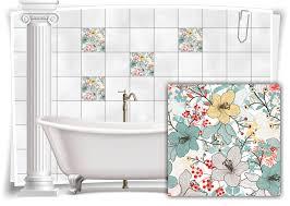 fliesen aufkleber fliesen bild mosaik kachel struktur orchideen blumen abstrakt sticker bad wc küche
