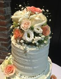 Rustic Themed Wedding Cake 3 Tier
