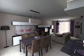 et cuisine looking salle a manger et salon amenager en l photo decoration