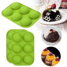 kugel silikon form für kuchen gebäck backen schokolade fondant backformen runde form dessert mould diy dekorieren