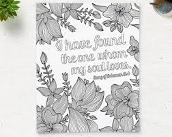 Coloring Page Printable Bible Verse Song Of Solomon 34 Instant Download Adult Pages