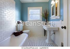 antikes blaues badezimmer design luxus badezimmer