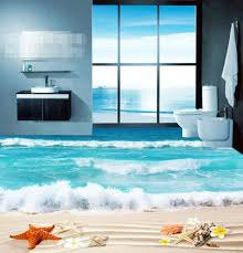 3d strand wellen 0473 boden tapete wandbilder selbstklebende abnehmbare küche bad boden wasserdichtboden teppich matte print epoxy yoyo
