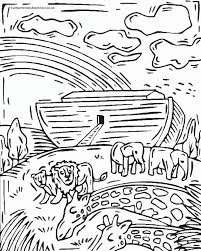 New Coloring Page Noahs Ark Pages For K Rainbow