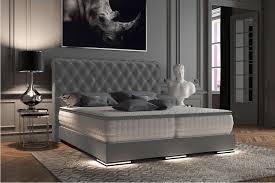 baron luxus boxspringbett grau stoff boxspringbett grau