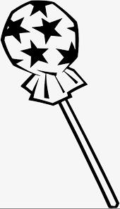 Hand painted lipop Black And White Lollipop Star PNG Image