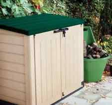 Keter Woodland Lean To Storage Shed by Keter Plastic Compact Garden Storage Shed Utility Cabinet 430l
